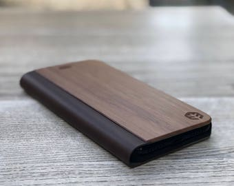 OXSY iPhone 6/6S Real Wooden Case   Best iPhone 6/6S Case   Walnut iPhone 6/6S Flip Case   iPhone 6/6S Cover   Real Wood iPhone Case