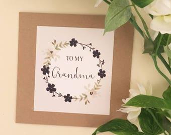 To My Grandma Card