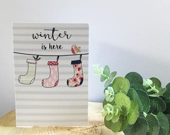 SALE **Winter Is Here Card**