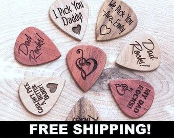 2eddd1c83b7 Free Shipping, Personalized Guitar Picks, Custom Guitar Pick, One Custom  Pick, Custom Engraved Guitar Pick, Wood Guitar Picks, Gift for Dad