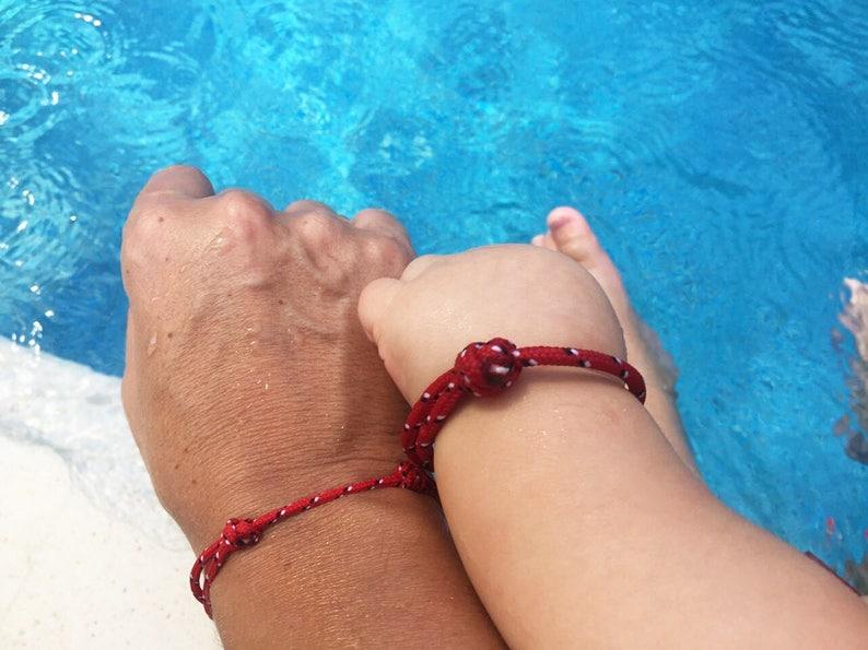 Two RED Nautical bracelets One THIN one BULKY Cord bracelets Lucky bracelets for couple sisters girlfriends friends 2 Minimalist Bracelets