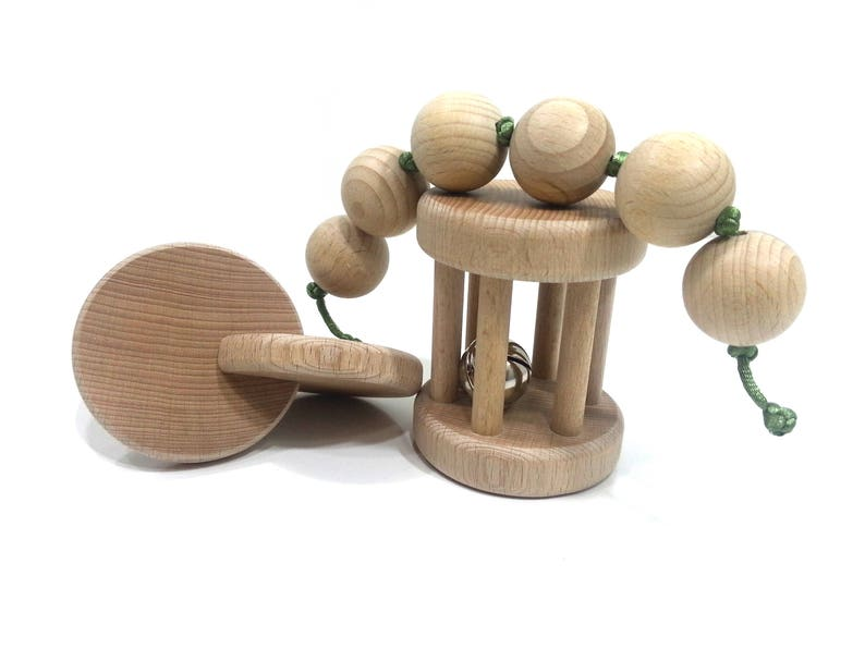 Set of Montessori baby toy set 3 rattles image 0