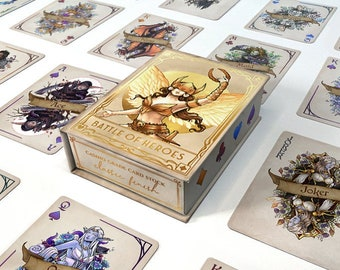 """Pre-Order """"Battle of Heroes"""" playing card deck (ships January 2021)"""