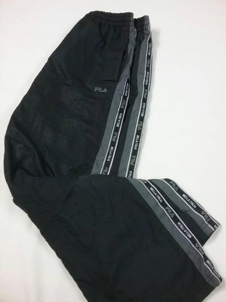 3d982fa5b FILA Men SideTape Tracksuit Pants Fila side panel Black | Etsy