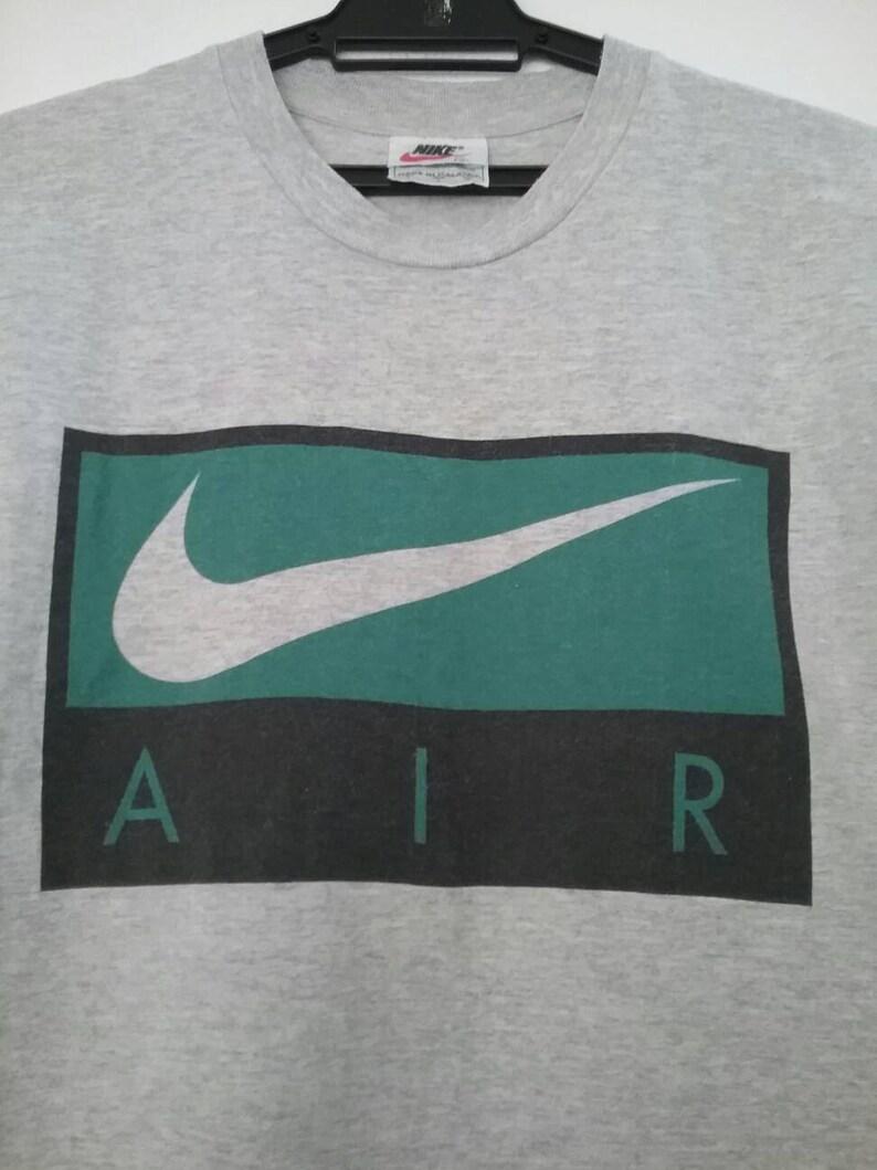 8a35006c4f914 Nike AIR Swoosh Box Shirt Rare Small Vintage Nike AIR tshirt 90s Nike Color  Block Nike cotton rayon blend