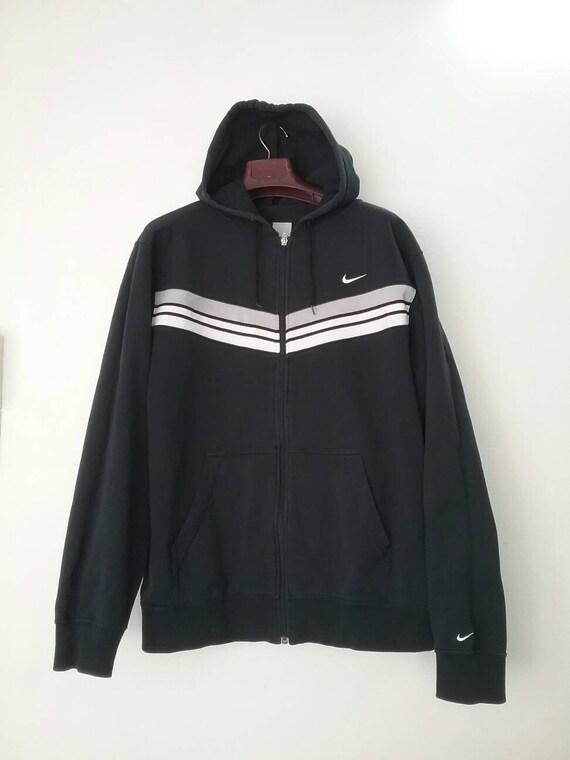 NIKE-Swoosh 3 Streifen Hoodie Sweatshirt Nike Jacke Vintage   Etsy b07ac56530