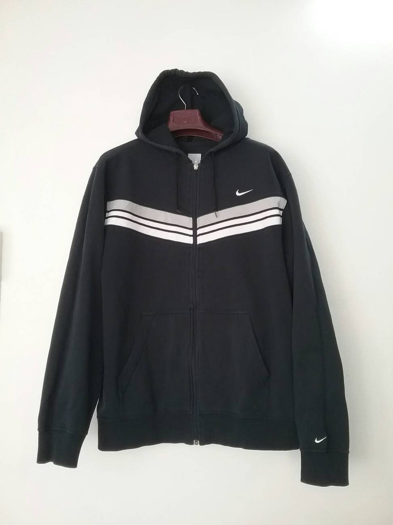 19f8b1dddf9c NIKE Swoosh 3 Stripes Hoodie Sweatshirt Nike Jacket Vintage