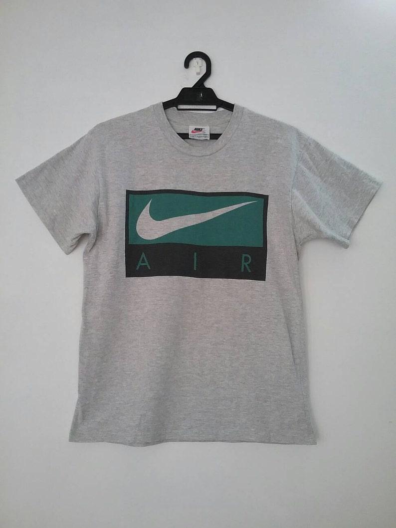 97d21d557 Nike AIR Swoosh Box Shirt Rare Small Vintage Nike AIR tshirt   Etsy