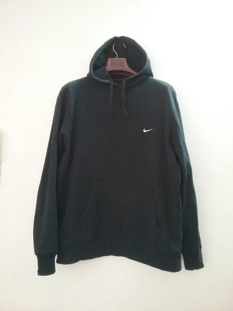be88dfc1c3 Vintage NIKE SWOOSH Hoodie Oversized Slouchy Sweatshirt Pullover Crewneck  Jumper Shirt Jacket Minimal