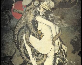 "Arthur Berzinsh raster graphic painting ""Justice"" print"