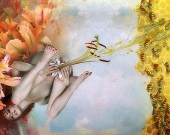 "Arthur Berzinsh raster graphic painting ""Honey"" print"