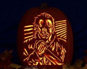 Michael Myers Carved On A Foam Pumpkin Plug In Light With Etsy