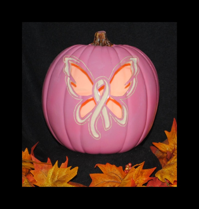Pink Breast Cancer Awareness Butterfly Ribbon Carved Foam Etsy