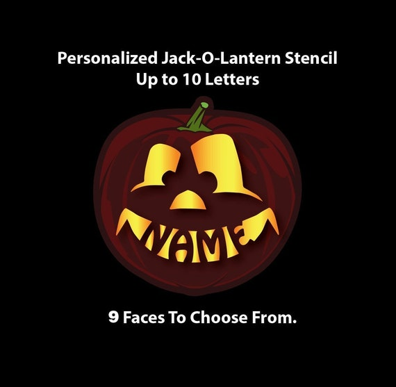 Personalized Pumpkin Stencil Name In Mouth