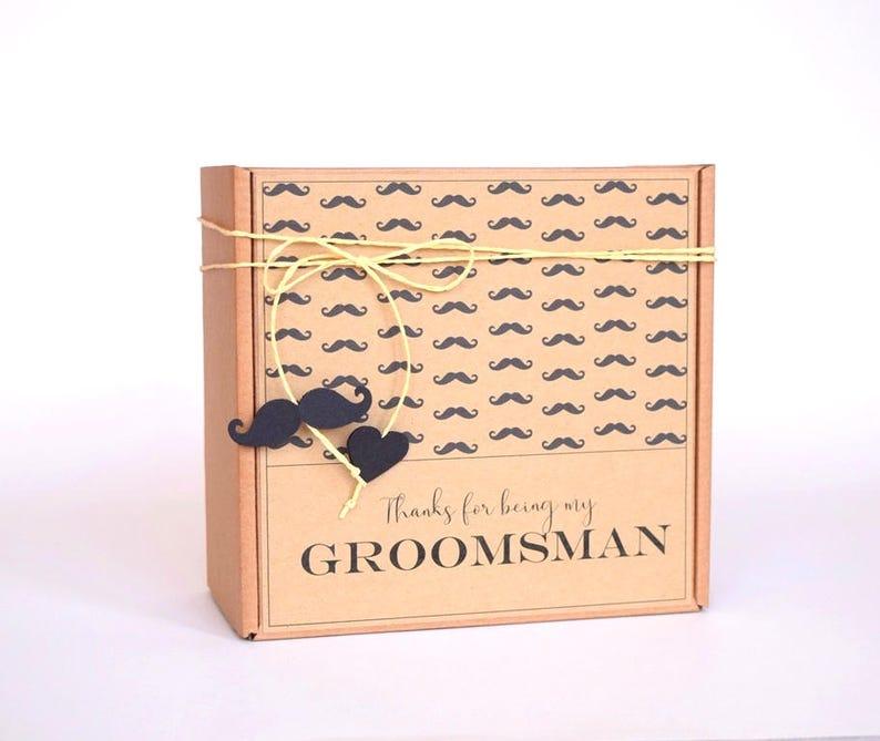 Groom Gift Box Groomsmen Box Bestman Usher Gift Box Hipster Box Personalized Wedding Gift Thank You Box
