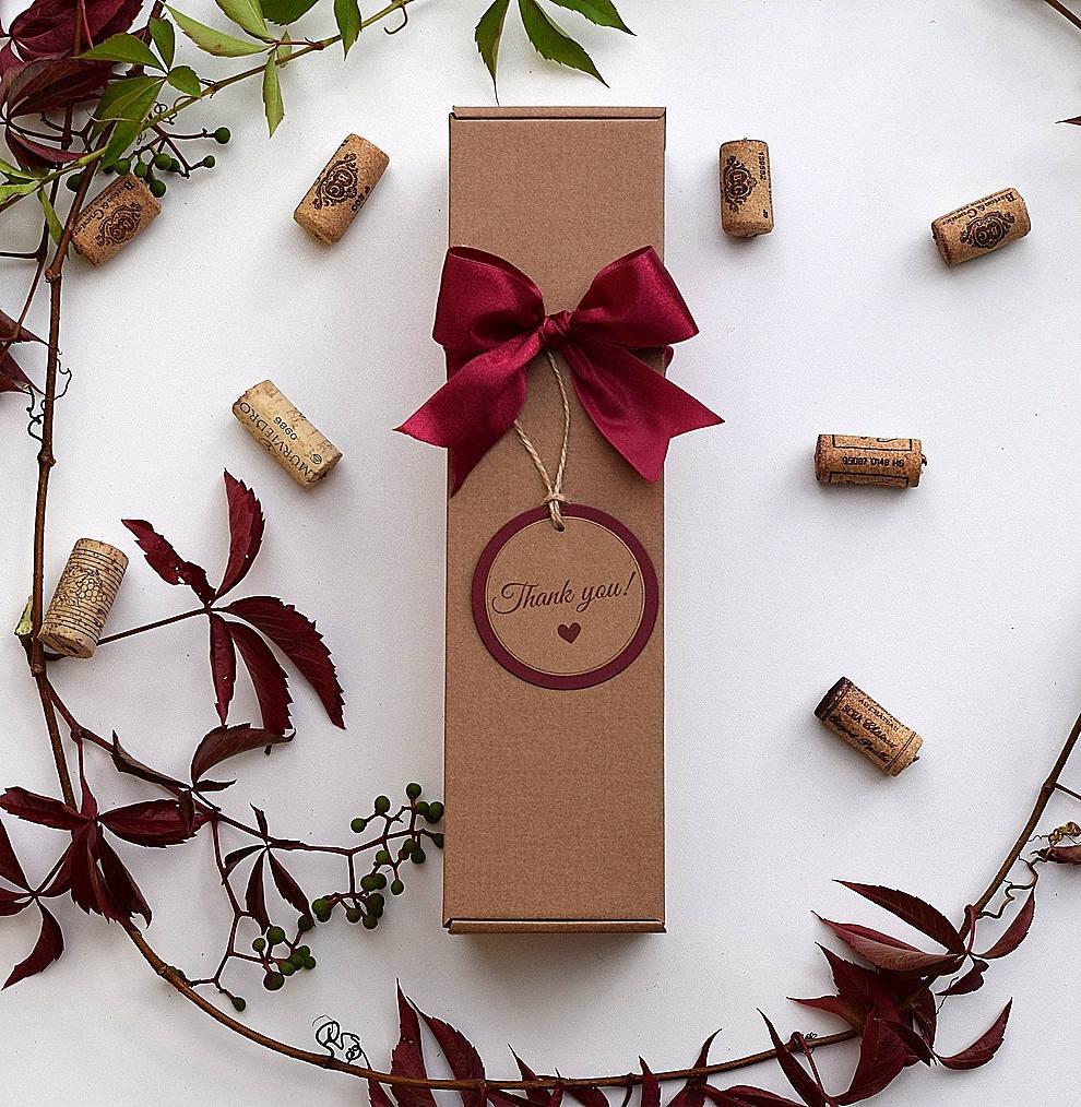 Christmas Gift Box Cardboard Wine Boxes Single Wine Box 2 Pcs Box With Lid Christmas Custom Gift Box Wedding Wine Box Christmas Wine Box
