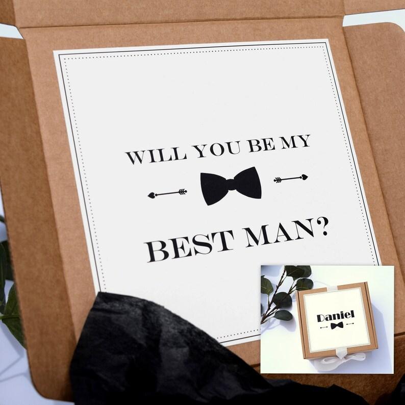 Will You Be My Best Man Box Groomsmen Box Proposal Groomsman Box Groomsmen Gift Boxes