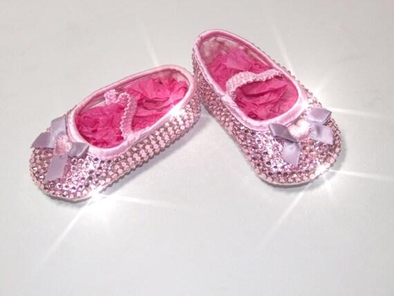 Belle rose Swarvoski cristal chaussures de bébé, cadeaux cadeaux cadeaux de Bling, Bling bébé Chaussures bébé Chaussures éclat | D'avoir à La Fois La Qualité De Ténacité Et De Dureté  adab70
