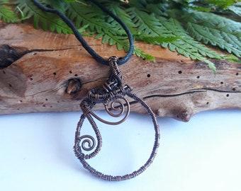 unique handmade jewellery gifts Rhyolite Agate Copper wire wrapped pendant Medusa copper necklaces Pendants