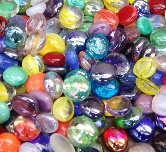 Nuggets Gems Black /& White Mix Stones 100 x Glass Pebbles