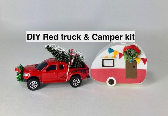 Diy Metal Red Truck Camper Decoration Kit 5 1 2 6 Long