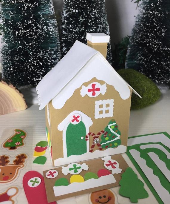 Christmas Gingerbread House Kit.Diy Gingerbread Putz House Craft Kit Size 2