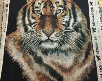 Fabric Tiger Panel