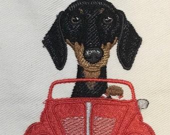 Machine Embroidery Dachshund Design-Dachshund Danny Gordon Artwork-Dachshund embroidery download-Cute dog designs-Canine Image Pattern