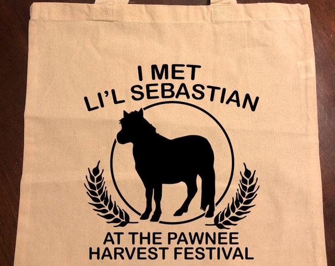 Parks and Recreation I Met Li'l Sebastian at the Pawnee Harvest Festival Tote Bag