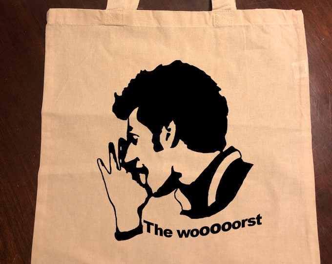 """Parks and Recreation Jean Ralphio """"The Worst"""" or """"Flush With Cash"""" Tote Bag"""