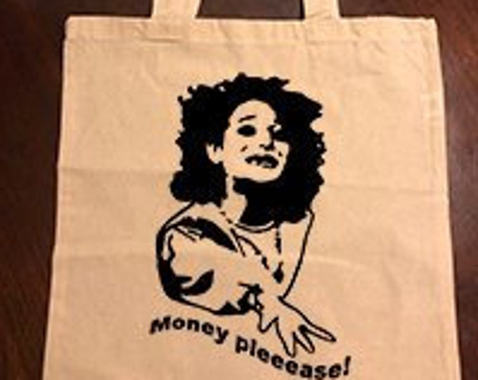 """Parks and Recreation Mona Lisa """"Money Please!"""" Tote Bag"""