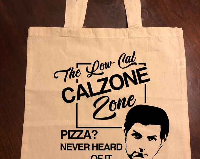 Parks and Recreation Ben Wyatt Low-Cal Calzone Zone Tote Bag