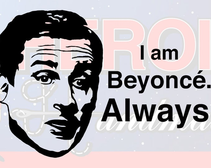 "4""+ Michael Scott The Office ""I Am Beyonce"" Adhesive Vinyl Decal"