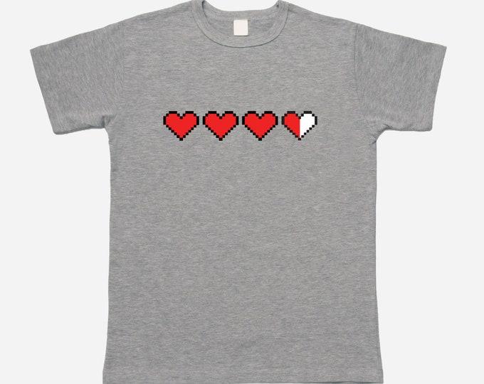 Pixel Heart Life Meter T-shirt