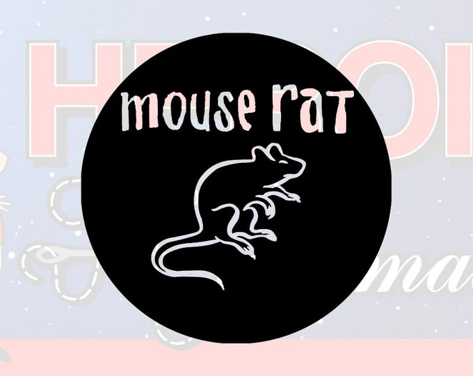 """4""""+ Mouserat Parks and Recreation Adhesive Vinyl Decal"""