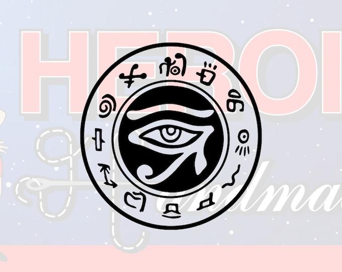 "4""+ Eye of Horus Ra Egyptian Protection Good Health Adhesive Vinyl Decal"