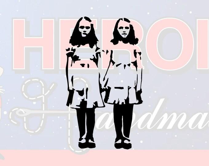 "4""+ The Shining Grady Twins Adhesive Vinyl Decal"