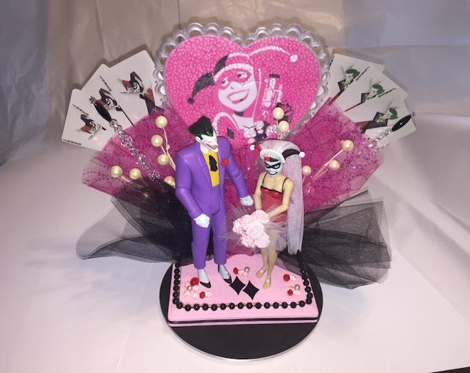 Joker and Harley Wedding Cake Topper