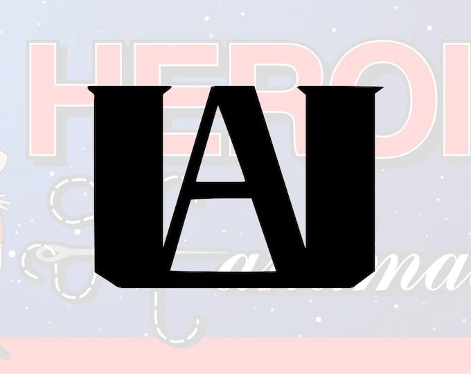 "4""+ My Hero Academia UA High School Logo Adhesive Vinyl Decal"
