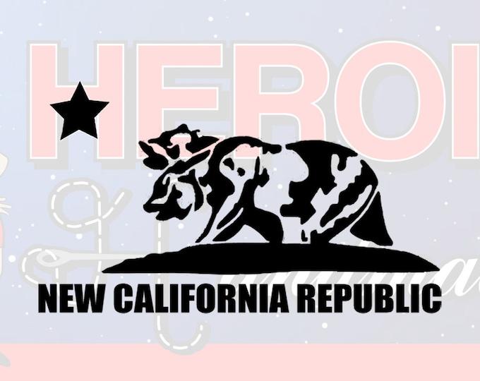 "4""+ New California Republic Logo Fallout Adhesive Vinyl Decal"