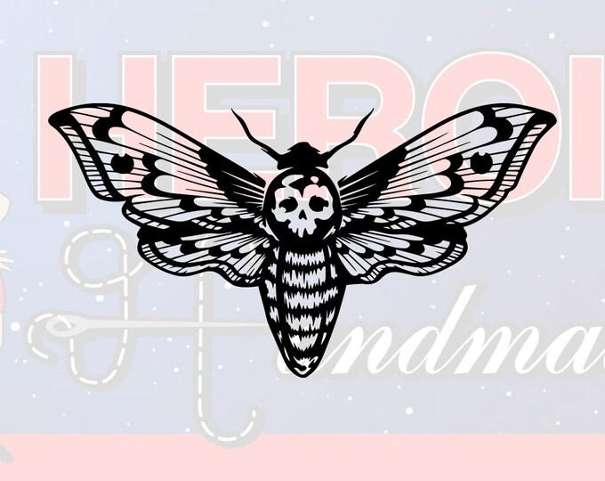 "4""+ Death's Head Moth Adhesive Vinyl Decal"