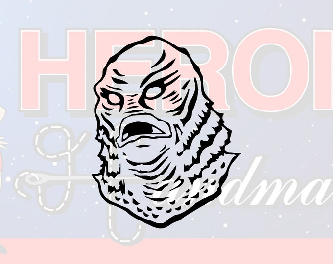 """4""""+ Creature from the Black Lagoon Horror Adhesive Vinyl Decal"""