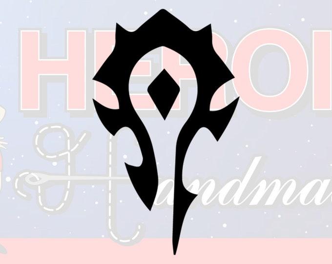 """4""""+ Horde World of Warcraft Logo Adhesive Vinyl Decal"""