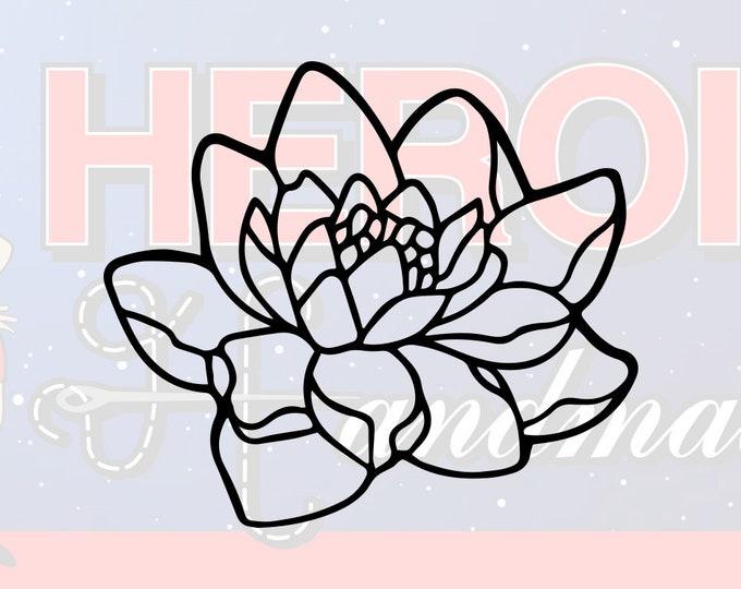 """4""""+ Lotus Flower Adhesive Vinyl Decal"""