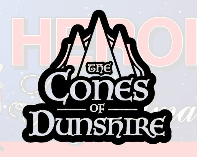 "4""+ Cones of Dunshire Parks and Recreation Adhesive Vinyl Decal"