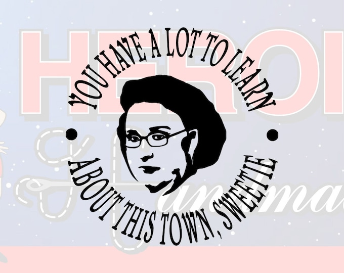 "4""+ Phyllis Vance ""You Have a Lot to Learn About This Town, Sweetie"" The Office Adhesive Vinyl Decal"