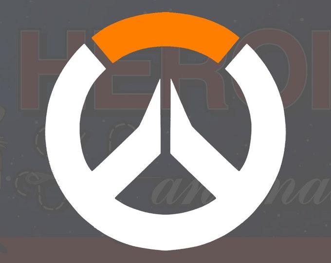 """4""""+ Overwatch Logo Adhesive Vinyl Decal"""