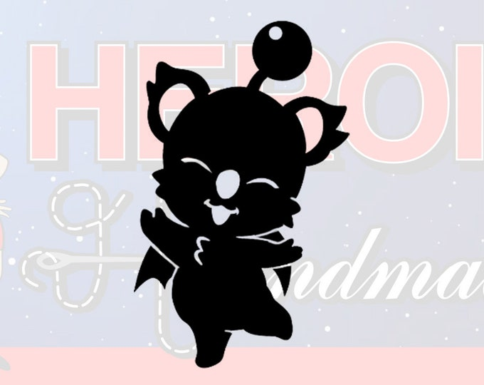"4""+ Final Fantasy Moogle Adhesive Vinyl Decal"