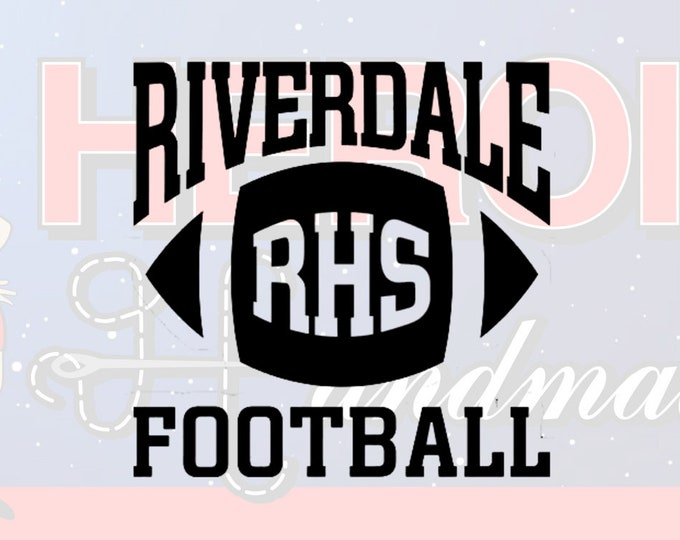 "4""+ Riverdale Football Adhesive Vinyl Decal"