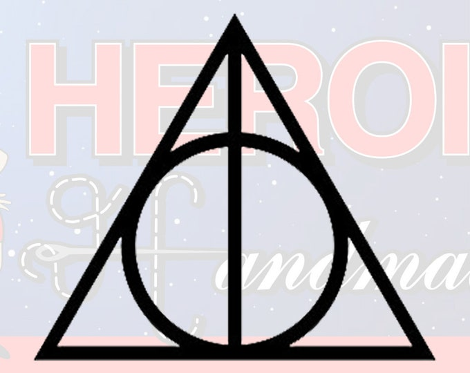"4""+ Harry Potter Deathly Hallows Adhesive Vinyl Decal"